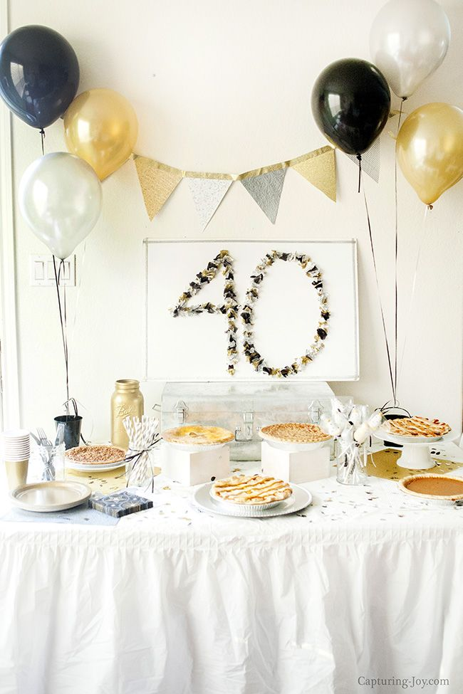 Surprise 40th Birthday Party All Time Favorite Crafts Diy 40th