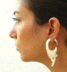 Bone Fake Gauge Earrings