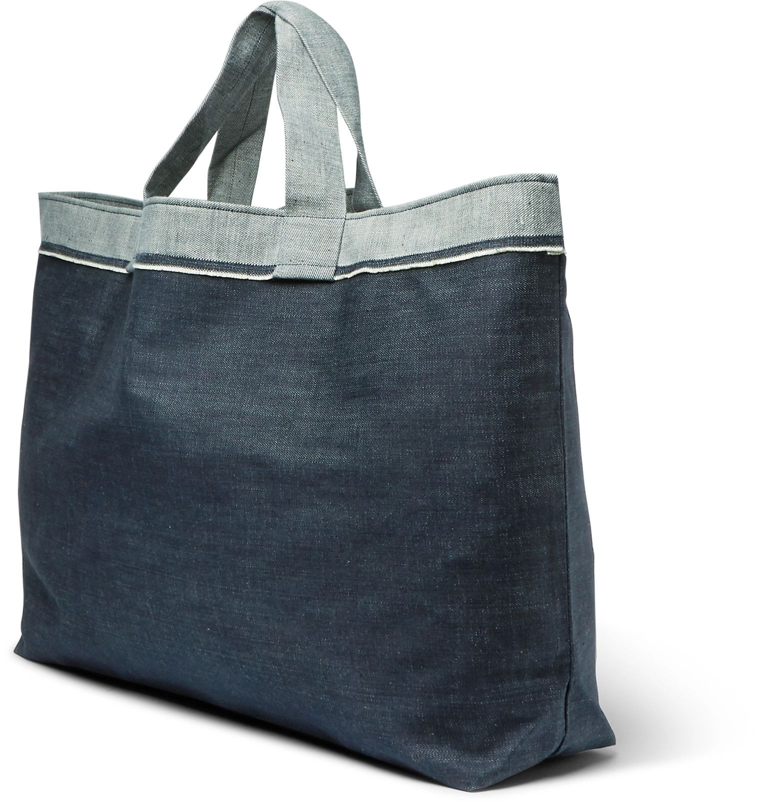 Cleverly Laundry Two Tone Denim Laundry Bag Bags Shopper Bag Laundry Tote