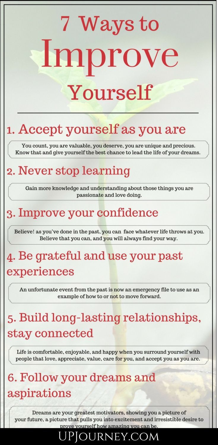 How to Improve Yourself Everyday (7 Ways Infographic)