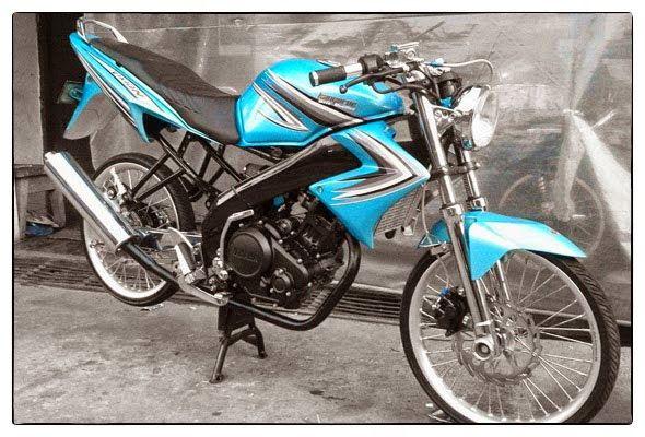 Modifikasi Motor Vixion Standar Velg Jari Jari Tdr