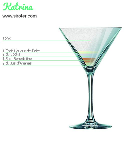 Recette Cocktail KATRINA