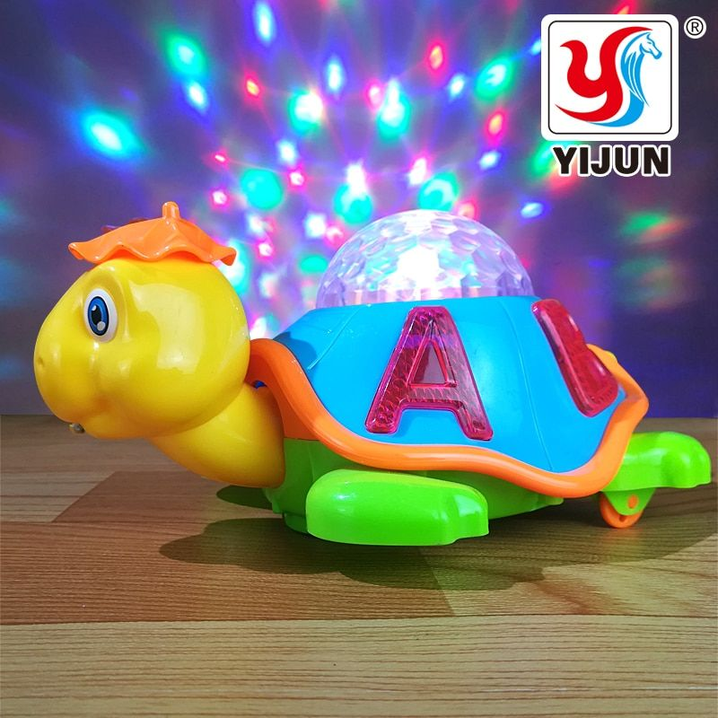 Baby Toy Cartoon LED Light Music Universal Electric Flash 3D Lights Childrens Sports Toy Crawl Turtle Perfect Birthday Gifts