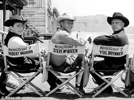 Three of The Magnificent Seven fancy!  Robert Vaughn, Steve McQueen, and Yule Brenner