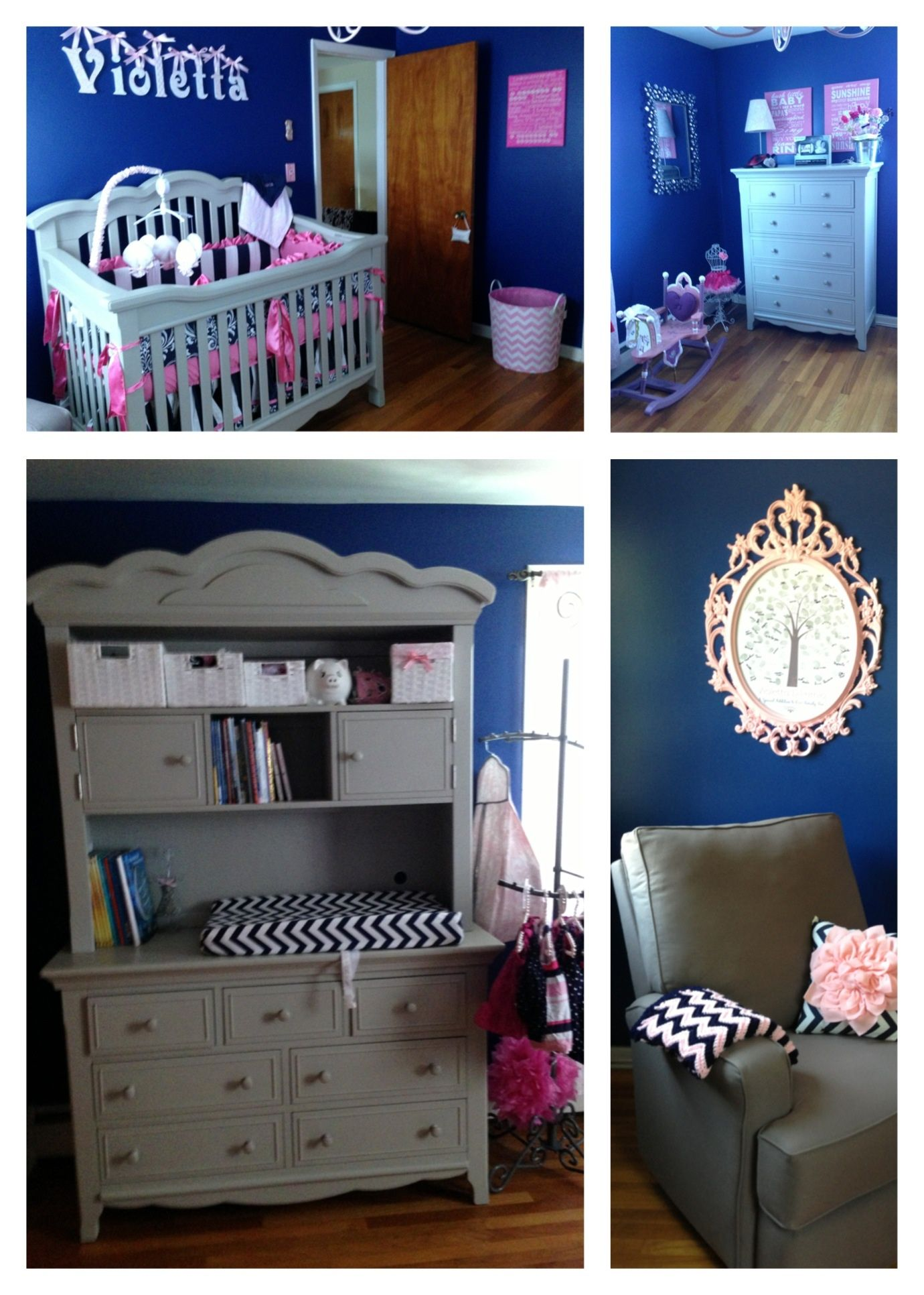 Navy Pink Nursery