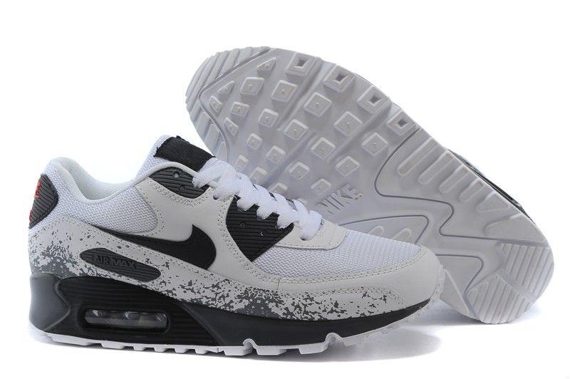 the latest cdc42 28567 Chaussure Nike Air Max noir blanc gris splash encre