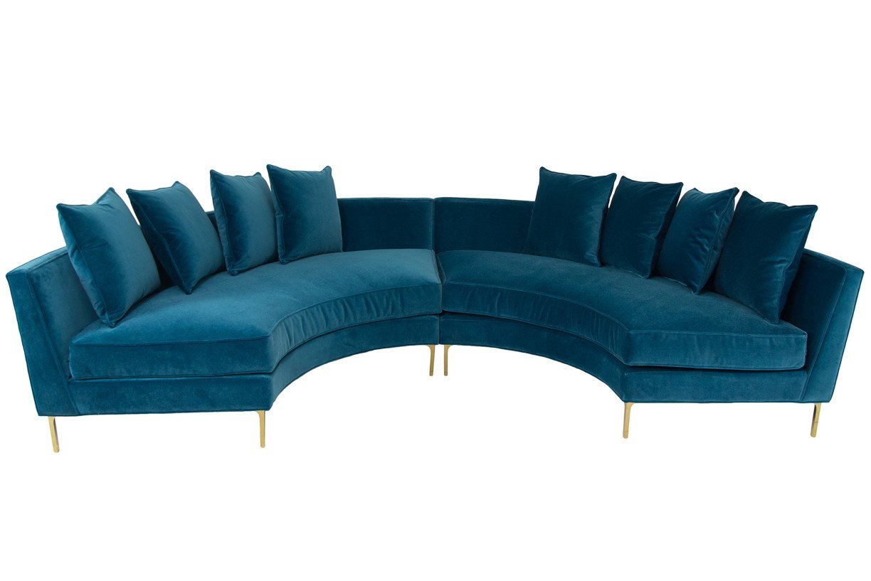Marvelous Front View Of Sardinia Sectional In 2019 Round Sofa Round Pdpeps Interior Chair Design Pdpepsorg