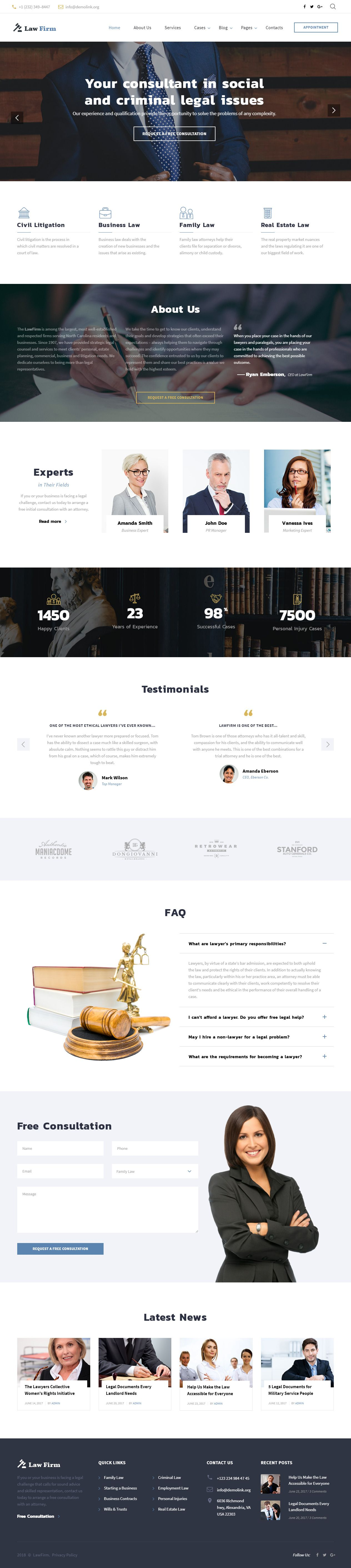 Law Firm is Premium full Responsive HTML5 template ...
