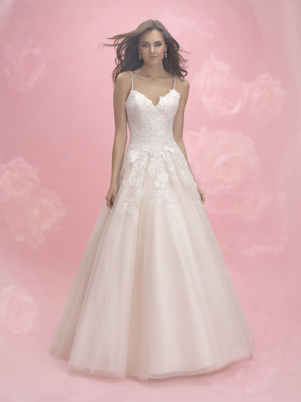Allure Romance Style 3053, A stunnig A-Line gown with soft lace ...