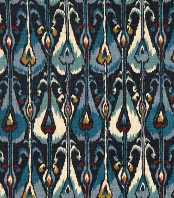 Lightweight Decor Fabric Robert Allen Ikat Bands Indigo