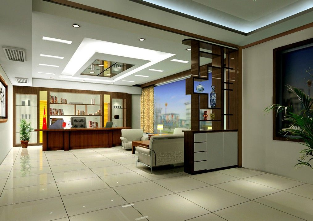 Manager Room office design with Chinese partition by