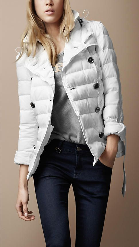 596a7ca82 Burberry down filled hooded trench. This is the best looking puffer ...
