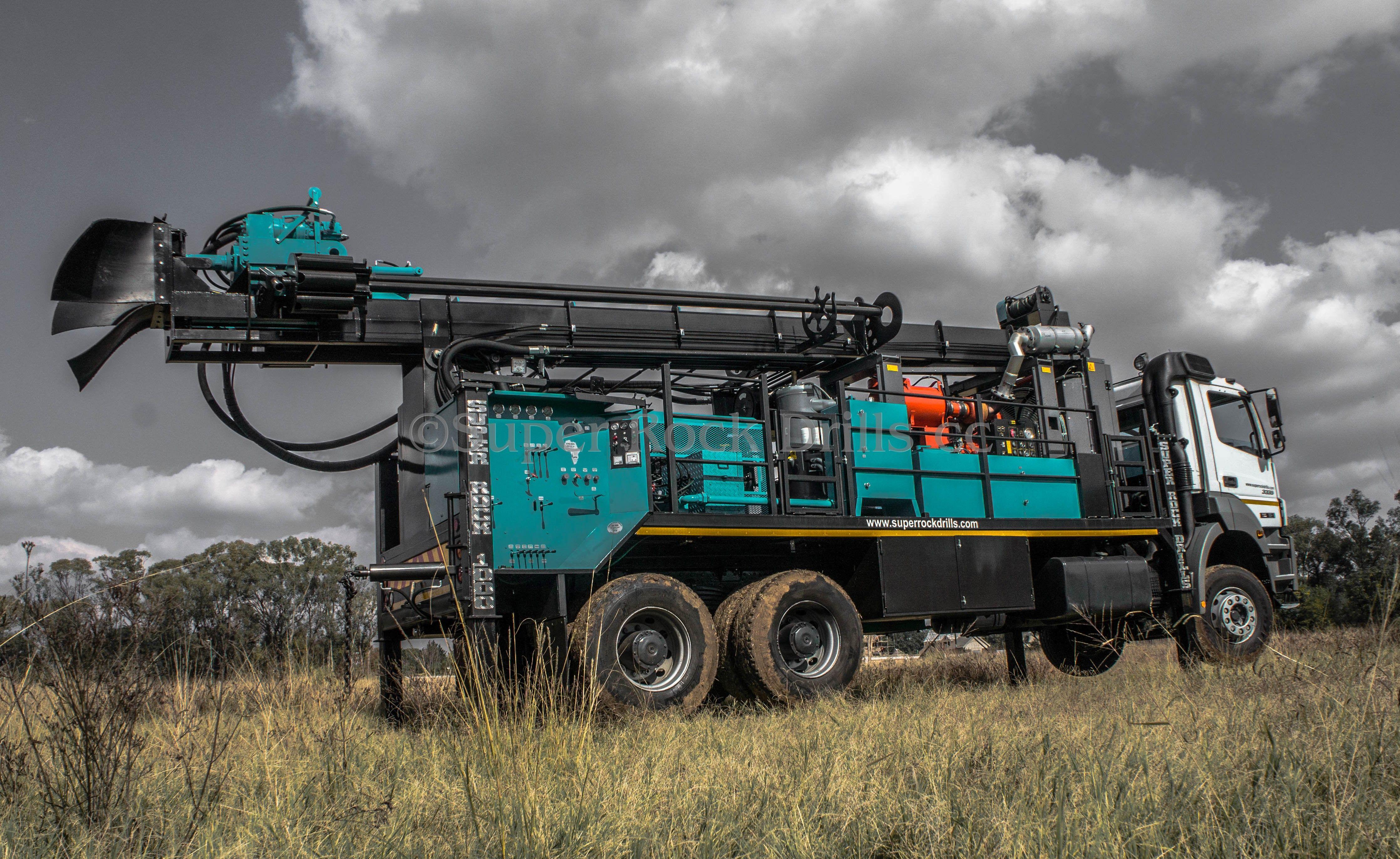 A Super Rock 1000 Waterwell drill rig c/w Atlas Copco
