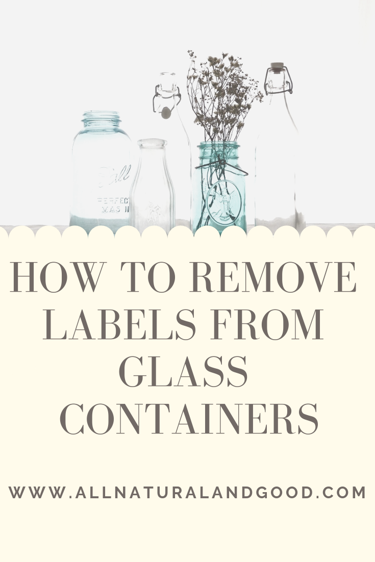 how to remove labels from glassware