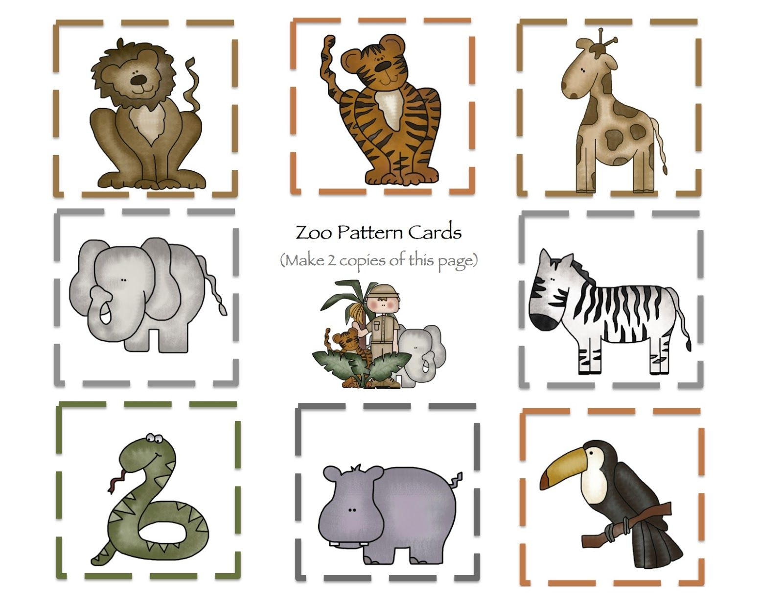 At The Zoo Part 2 Printable