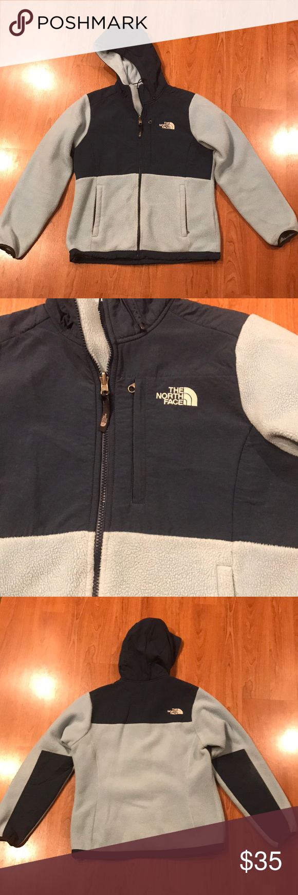 Hooded north face fleece jacket north face hooded zip up fleece