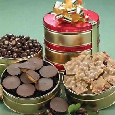 Sugar free no sugar added peanut lovers dream gift tower candy chocolate assortment gifts negle Image collections