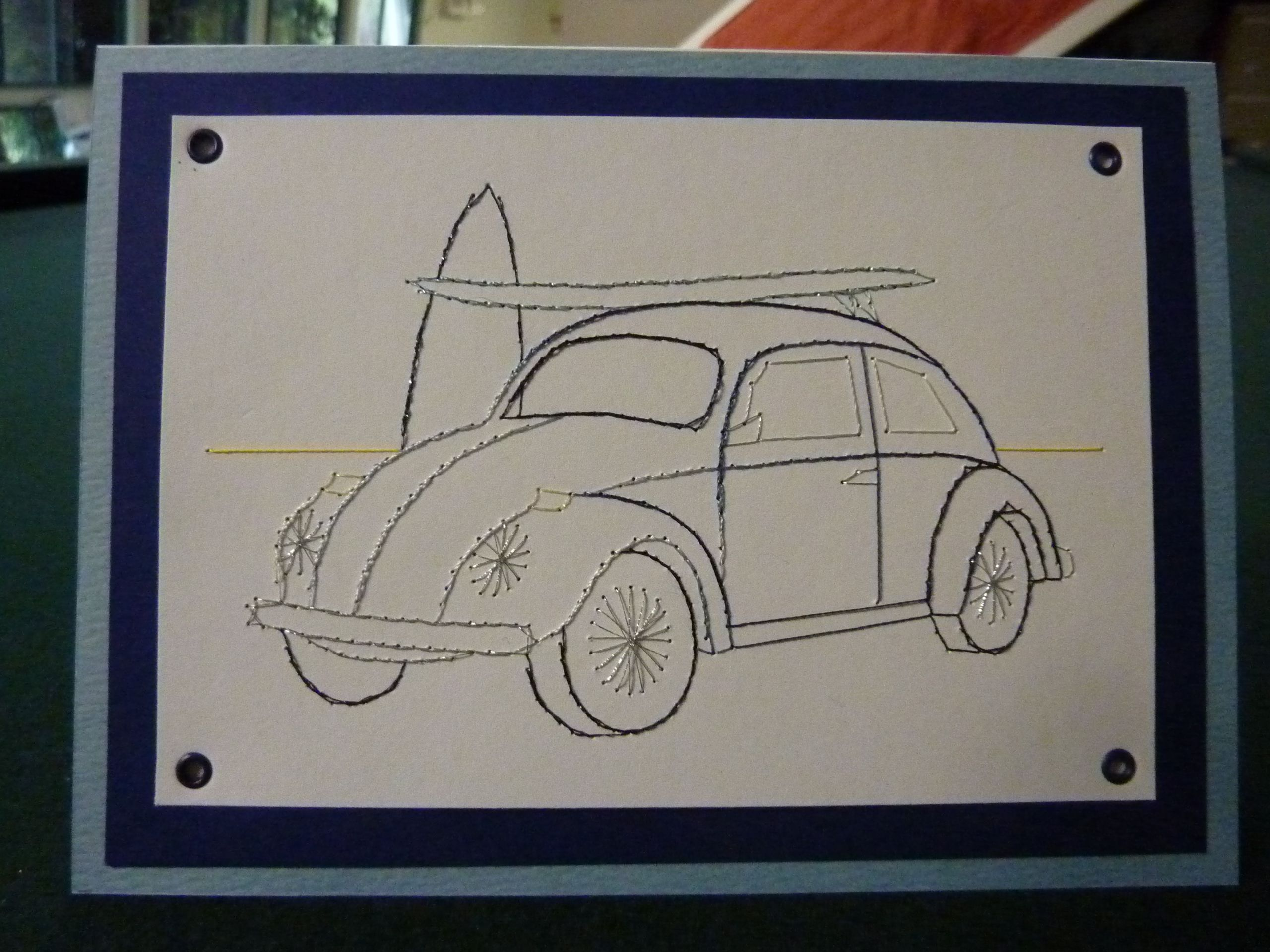 I like this VW, the set also has a combi van and a scooter and the design is by Form-A-Lines.