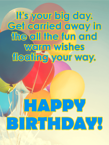 Its Your Big Day Happy Birthday Card For Kids A Bunch Of Bright
