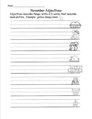 Second Grade Freebies Adjective Worksheet Second Grade Freebies First Grade Worksheets Second grade adjectives worksheet