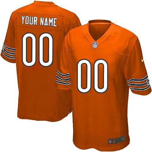 Nike Chicago Bears Customized Orange Embroidered Elite Youth NFL Jersey 95a38539e