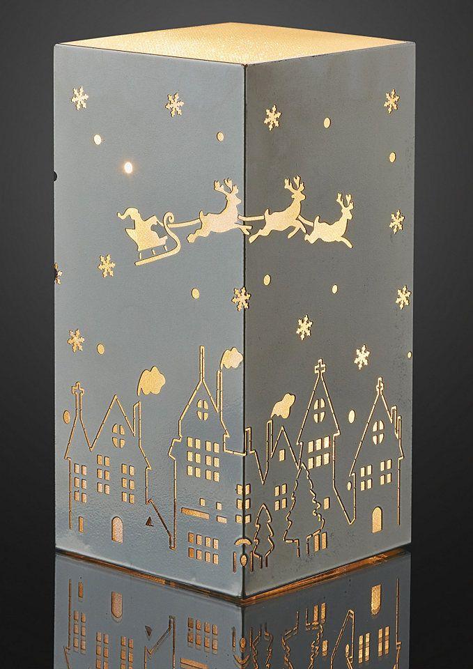 Otto Weihnachtsbeleuchtung.Hellum Set Led Metall Quader Mit Gravur 2tlg Für 24 99
