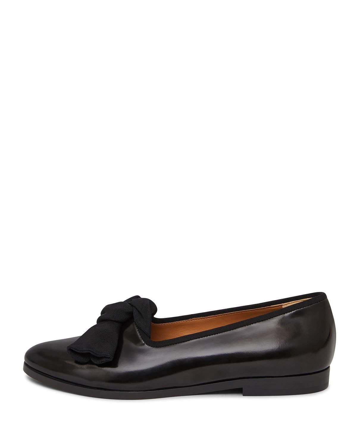 65c6bc31733 Mansur Gavriel Mixed Leather Bow Flat Loafer