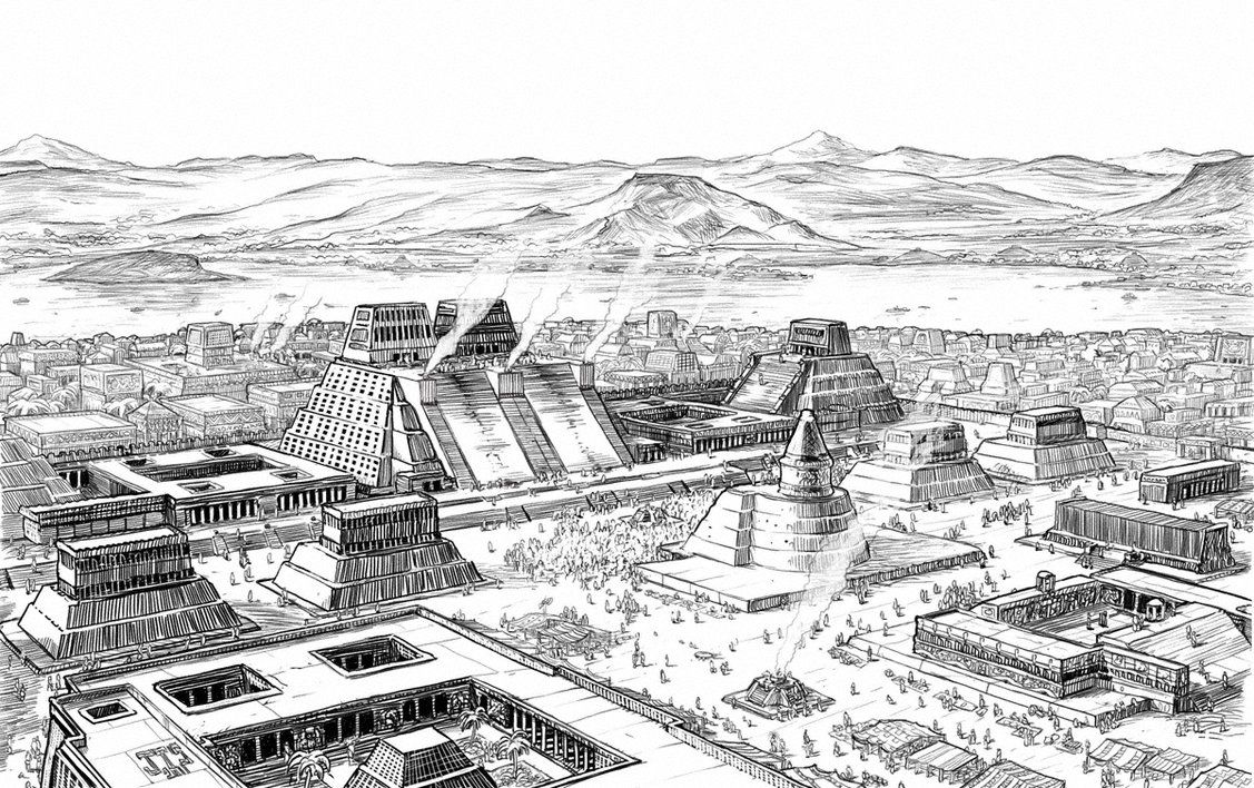 Image result for Tenochtitlan sketch