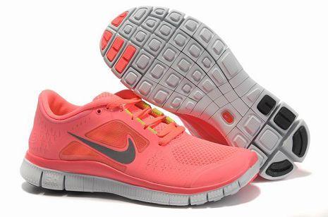 chaussures de sport c9d7f 0f466 Nike Free Run 3 Hot Punch Reflective Argent Sol Volt Femme ...