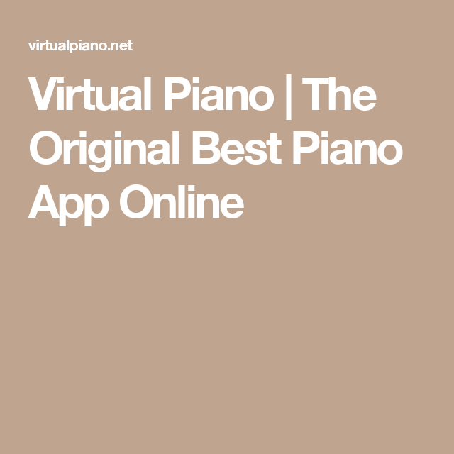 Virtual Piano | The Original Best Piano App Online | Learn