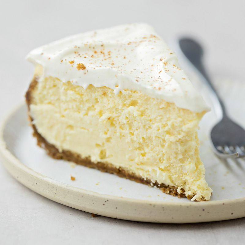 Eggnog Cheesecake (Life Made Simple) #eggnogcheesecake