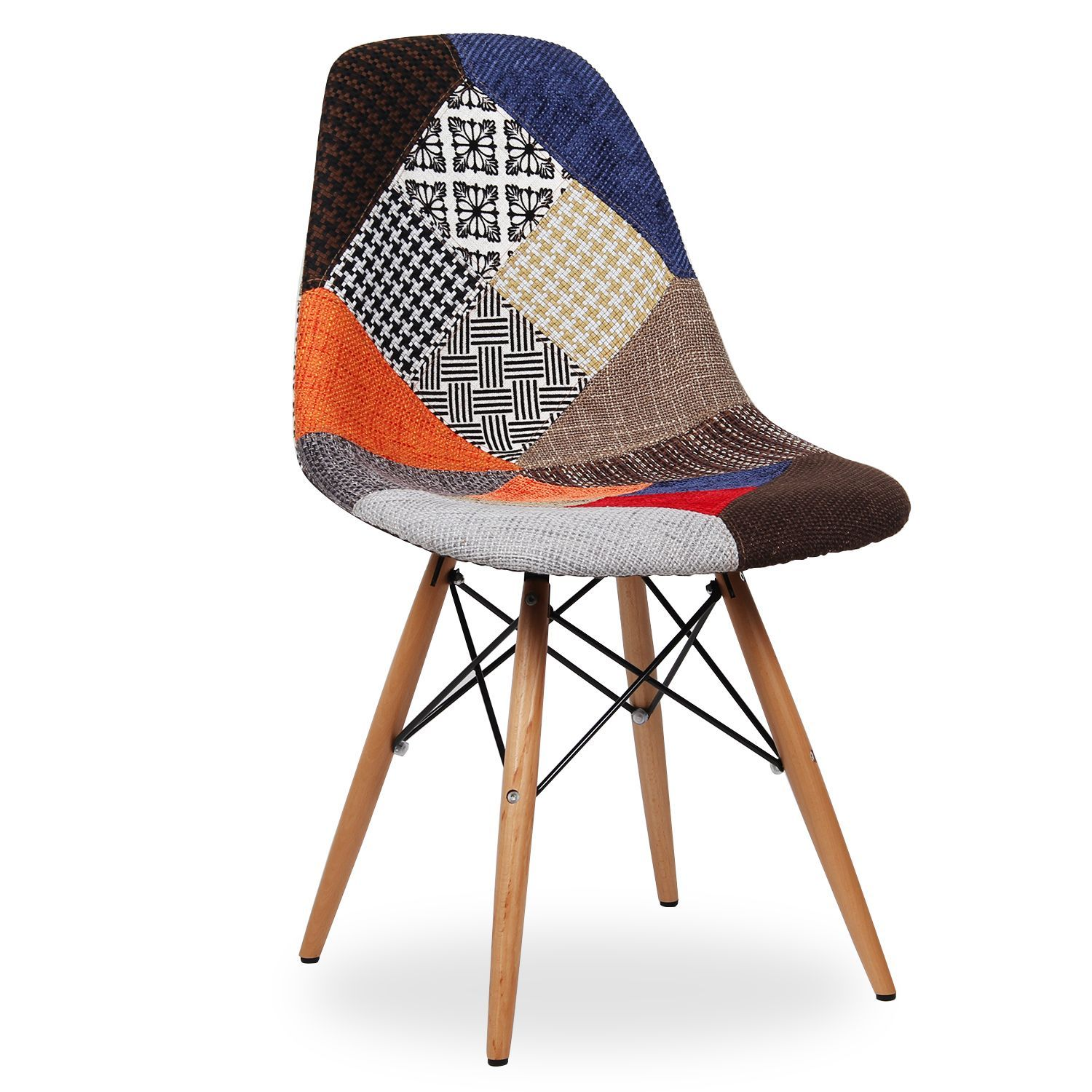 Silla wooden patchwork edition 2 sillas icono del dise o dsw patchwork - Chaise charles eames dsw ...