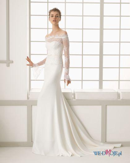 Suknia ślubna Hiszpańska Koronka Prosta Długi Rękaw Szukaj W