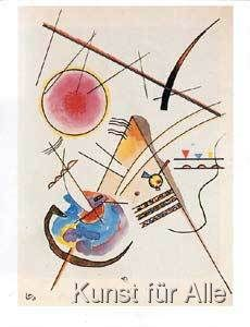 Kandinsky Aquarell Aus Dem Gastebuch Hess Art Print Canvas On