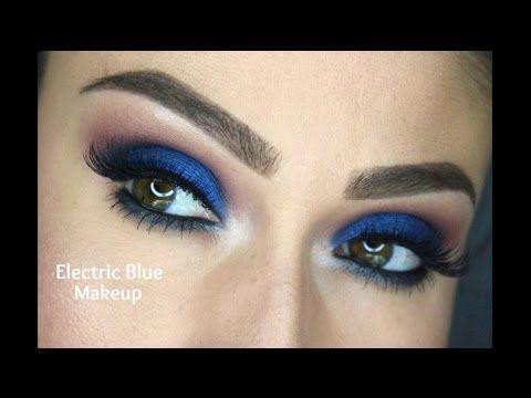 Electric Blue Makeup Tutorial | Night Time Makeup
