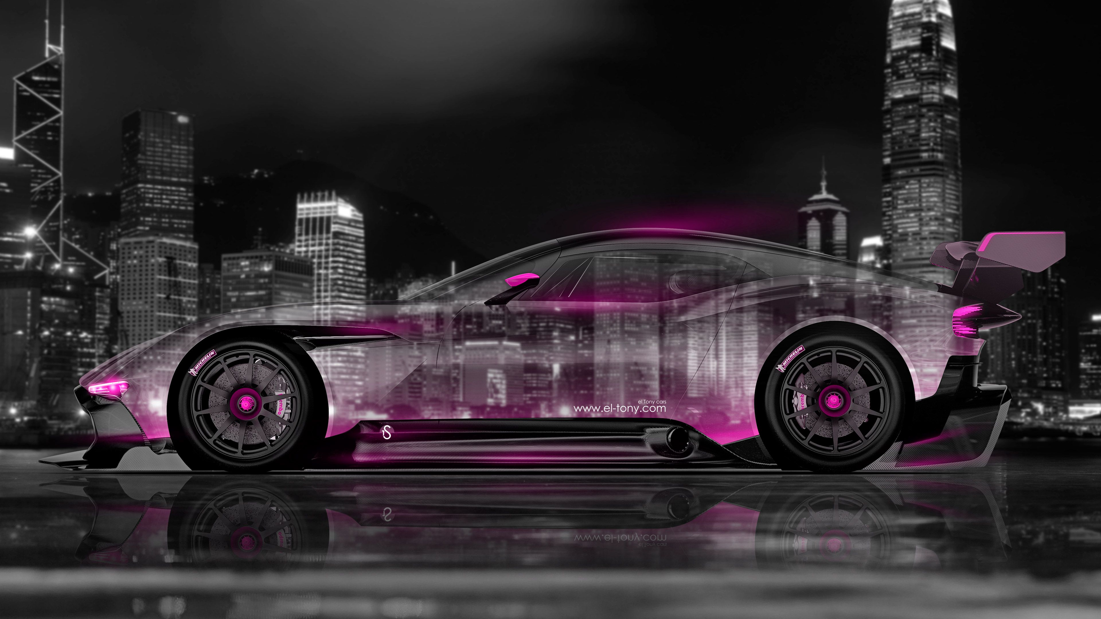 Charmant Aston Martin Vulcan Side Crystal City Car 2015