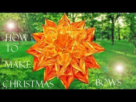 como hacer moos navideos how to make christmas bows youtube
