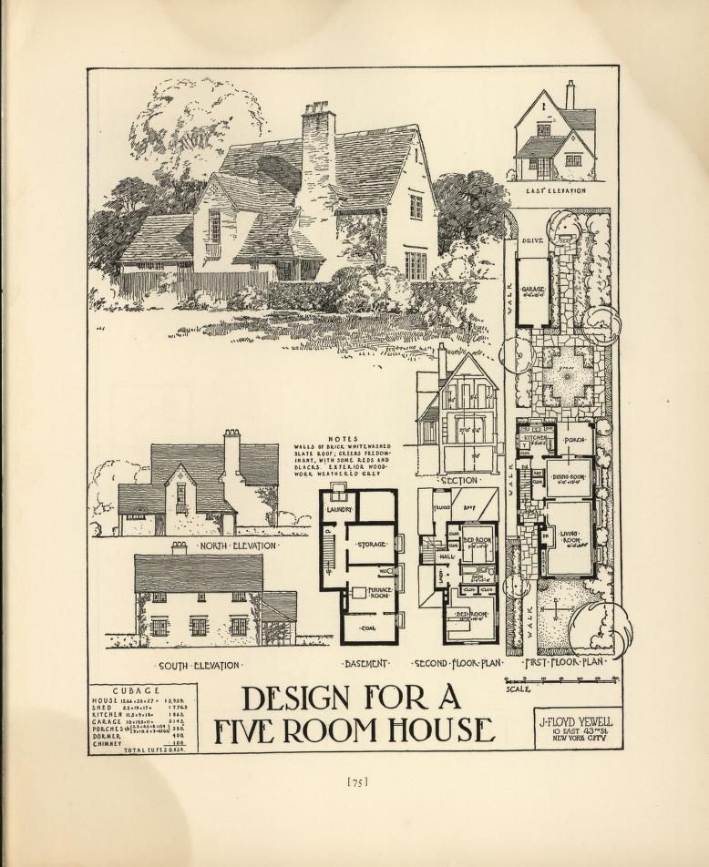 Pictures Of English Cottages From The 1920 S With Attached: Chicago Tribune Book Of Homes*1927