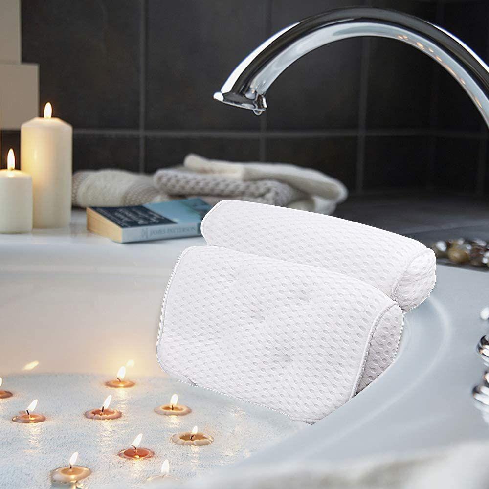Amazefan Badewannenkissen Luxus Badewanne Spa Kissen Mit 4d Air Mesh Technologie Und 7 Saugnapfen Stutzfunktion F In 2020 Badewannenkissen Luxus Badewanne Badewanne