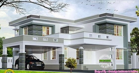 People also love these ideas modern flat roof villa in sq feet house  ehome rh pinterest