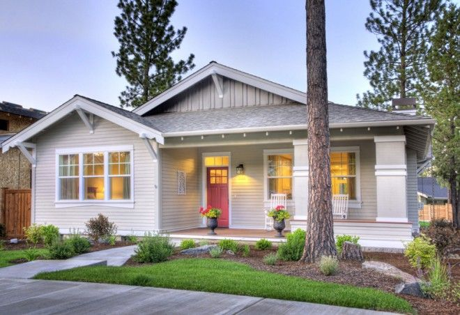 Another Craftsman Style House (Bend, OR): Simple, 1600 SF, single level, 3 bedroom, 2 bath home in Northwest Crossing. #craftsmanstylehomes
