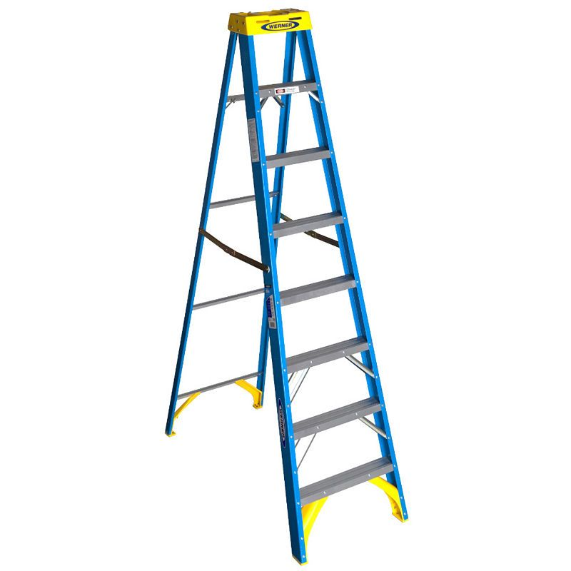 Werner 6008 8 Fiberglass Step Ladder Step Ladders Platform Ladder Fiberglass