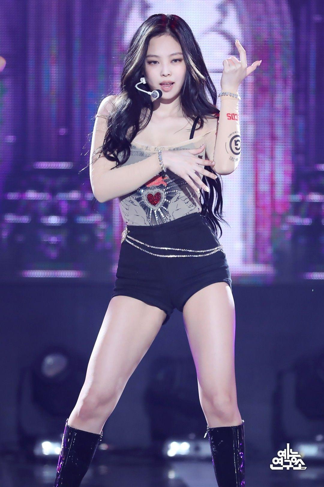 Blackpinkofficial Music Show 200718 Jennie Show Music Core Blackpink Fashion Blackpink Jennie Blackpink