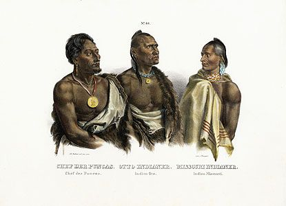 Bodmer American Indian Prints 1845