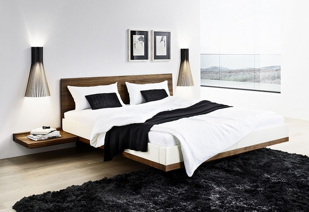 Roma Walnut Contemporary Bed: Minimalist Solid Walnut Bed Inspiration Listed In: