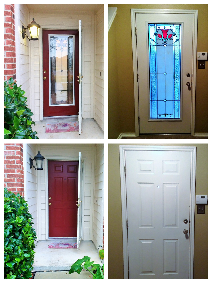 Want To Add Door Glass Your Front No Problem After Viewing Our Collections The Customer Selected An Eclectic Style Insert