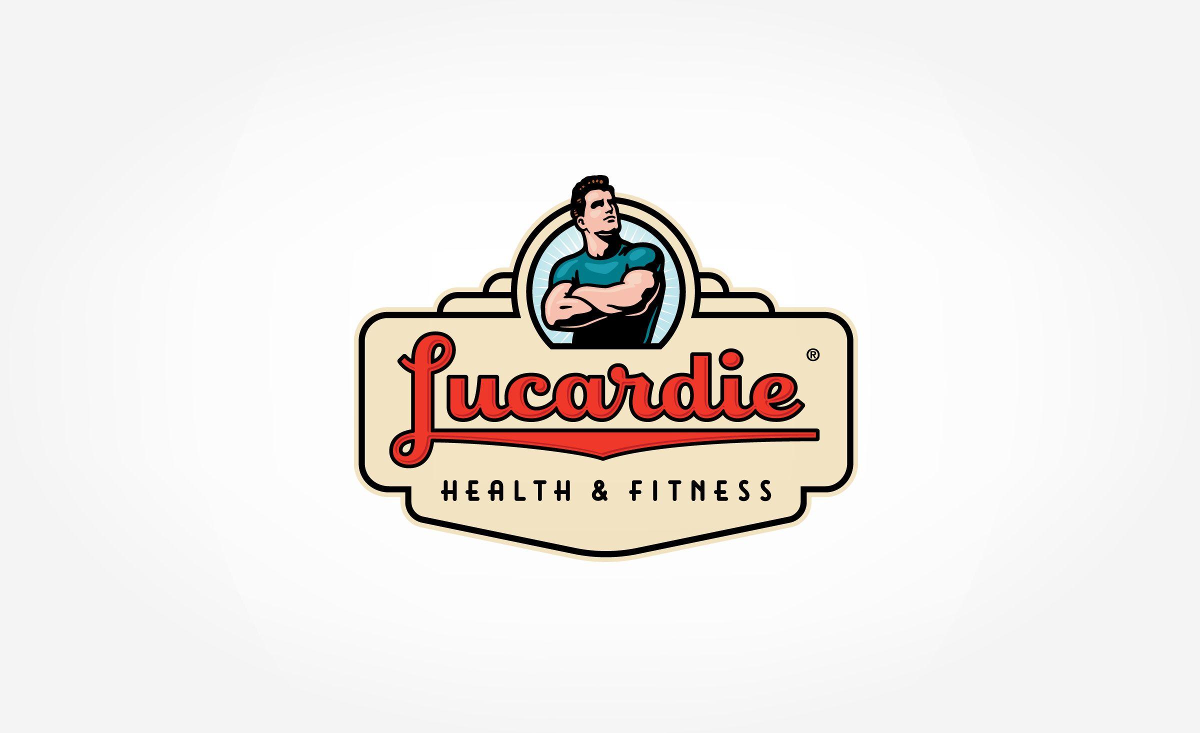 Lucardie Health Graphic DSigns Retro logo design
