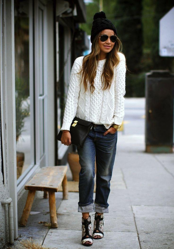 Fuzzy, Furry Fashion Items to Cozy Up In | Boyfriend jeans ...