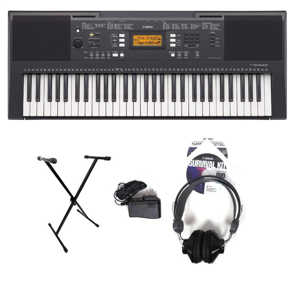 Yamaha Psre343 61 Key Portable Keyboard Basic Bundle Portable Keyboard Keyboard Portable Music Player