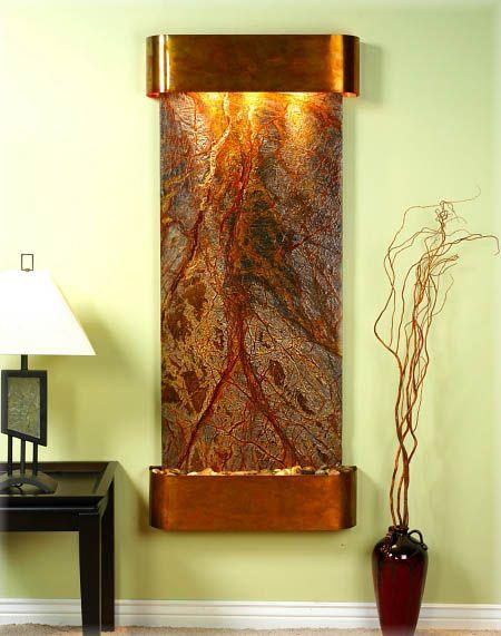La decoración con fuentes de pared   Fountain, Water features and ...
